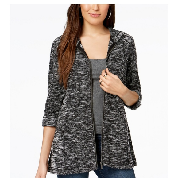 Nwt Style Co French Terry Jacket Nwt